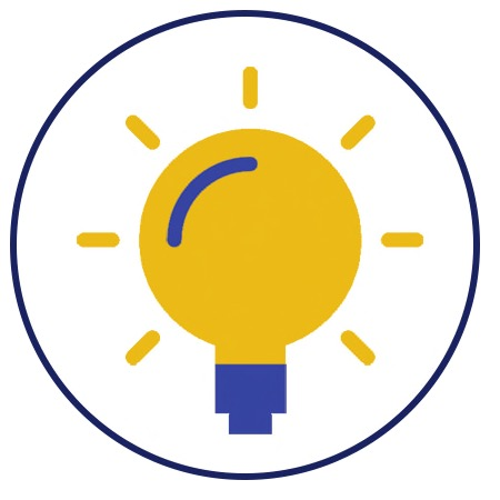 Light icon in yellow and blue